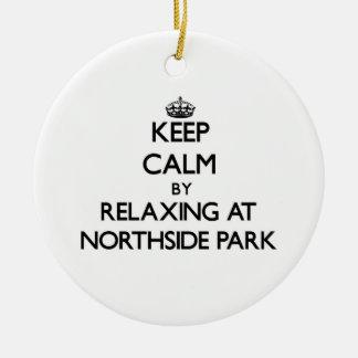 Guarde la calma relajándose en el parque nuevo Ham Adornos