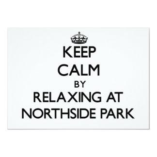 """Guarde la calma relajándose en el parque nuevo invitación 5"""" x 7"""""""