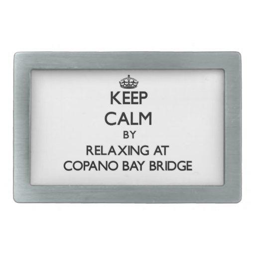 Guarde la calma relajándose en el puente Tejas de  Hebillas Cinturón Rectangulares