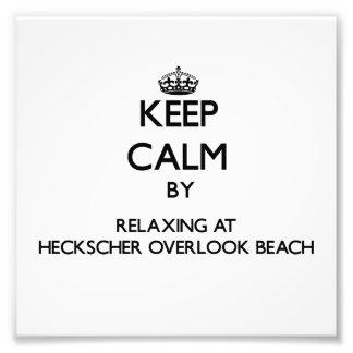 Guarde la calma relajándose en Heckscher para pasa