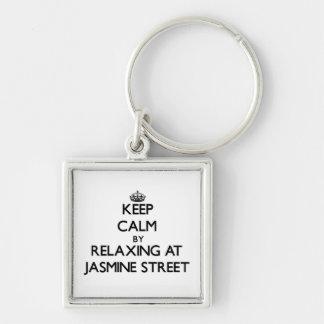 Guarde la calma relajándose en la calle la Florida Llaveros Personalizados