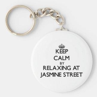 Guarde la calma relajándose en la calle la Florida Llavero Personalizado