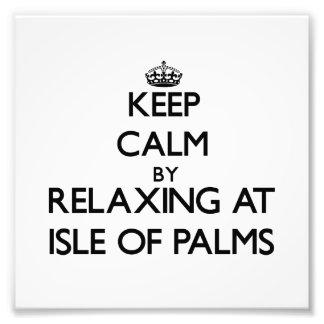 Guarde la calma relajándose en la isla del villanc fotografias