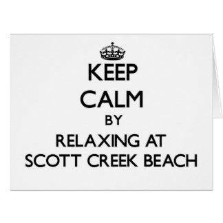 Guarde la calma relajándose en la playa Califor de Tarjeta De Felicitación Grande