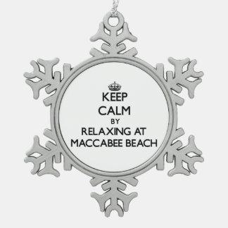 Guarde la calma relajándose en la playa California Adorno De Peltre En Forma De Copo De Nieve