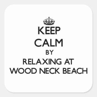 Guarde la calma relajándose en la playa de madera