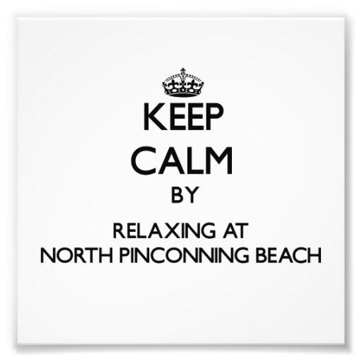 Guarde la calma relajándose en la playa del norte  impresiones fotográficas