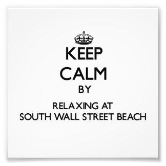 Guarde la calma relajándose en la playa del sur F  Cojinete