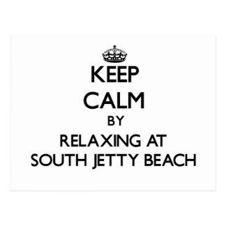 Guarde la calma relajándose en la playa del sur la postal