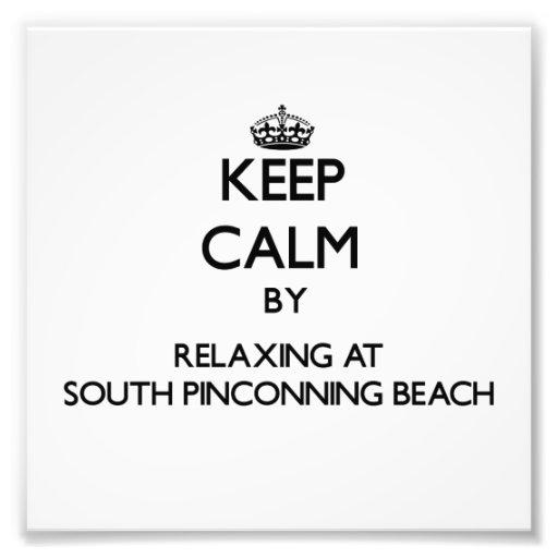 Guarde la calma relajándose en la playa del sur MI Fotos