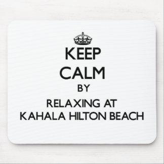 Guarde la calma relajándose en la playa Hawai de Alfombrilla De Ratón