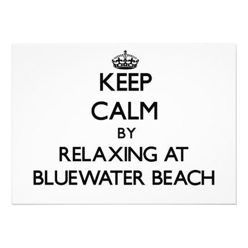 Guarde la calma relajándose en la playa la Florida Comunicados Personales