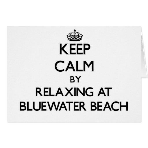 Guarde la calma relajándose en la playa la Florida Tarjeton