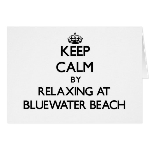 Guarde la calma relajándose en la playa la Florida Tarjeta