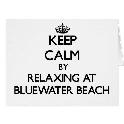 Guarde la calma relajándose en la playa la Florida Felicitación