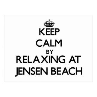 Guarde la calma relajándose en la playa la Florida Postal
