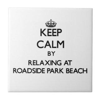 Guarde la calma relajándose en la playa Michi del  Azulejos Cerámicos