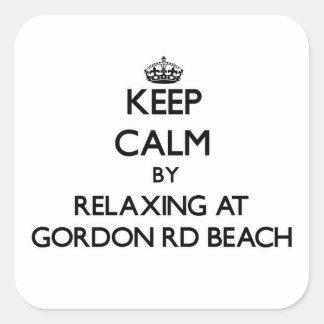Guarde la calma relajándose en la playa Michigan d
