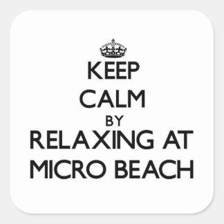 Guarde la calma relajándose en la playa micro Mari