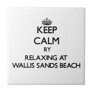 Guarde la calma relajándose en la playa nueva ha d azulejos cerámicos