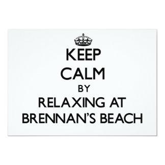 """Guarde la calma relajándose en la playa Nueva York Invitación 5"""" X 7"""""""