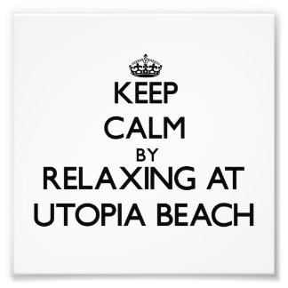 Guarde la calma relajándose en la playa Ohio de Ut Impresiones Fotográficas