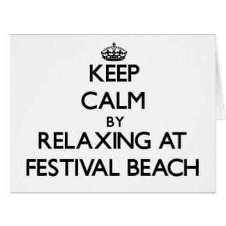Guarde la calma relajándose en la playa Virginia d