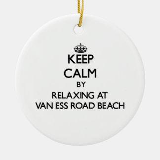Guarde la calma relajándose en la playa Wiscon de Adorno Redondo De Cerámica