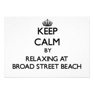 Guarde la calma relajándose en la playa Wiscon de