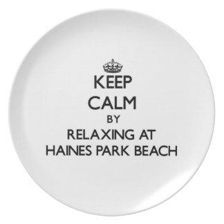 Guarde la calma relajándose en la playa Wiscons de Plato De Comida