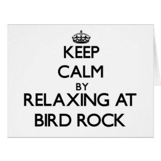 Guarde la calma relajándose en la roca California Tarjeta De Felicitación Grande