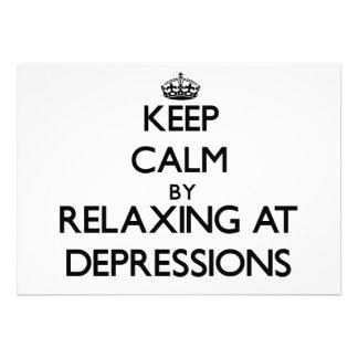 Guarde la calma relajándose en las depresiones Cal
