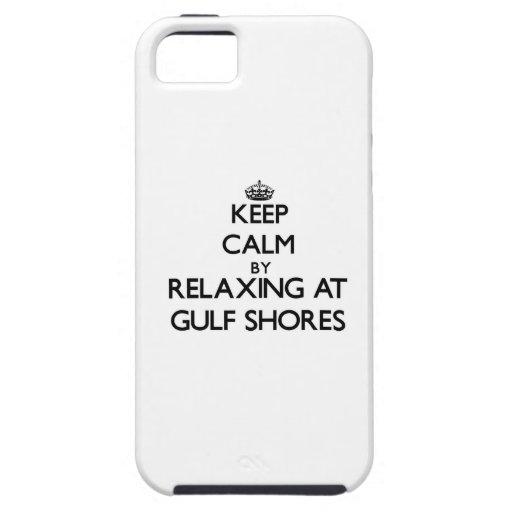 Guarde la calma relajándose en las orillas Tejas d iPhone 5 Case-Mate Cobertura