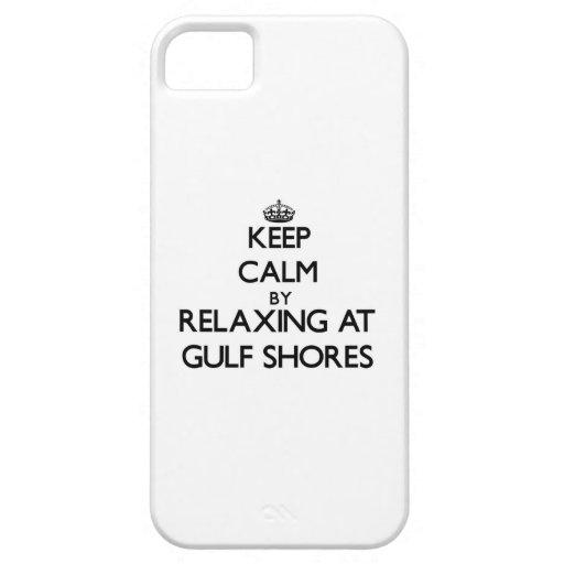 Guarde la calma relajándose en las orillas Tejas d iPhone 5 Case-Mate Protector