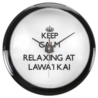 Guarde la calma relajándose en Lawa'I Kai Hawaii Reloj Acuario