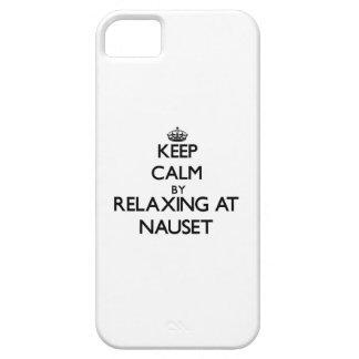 Guarde la calma relajándose en Nauset Massachusett iPhone 5 Case-Mate Cobertura