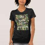 Guarde la calma - soy paracaidista camisetas