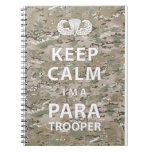 Guarde la calma - soy paracaidista libros de apuntes