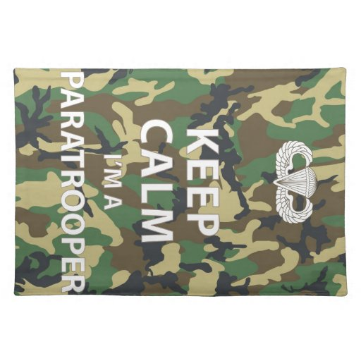 Guarde la calma - soy paracaidista mantel individual