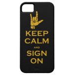 Guarde la calma una muestra en el caso para el iPh iPhone 5 Carcasa