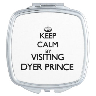Guarde la calma visitando a príncipe Massachusetts Espejo De Viaje