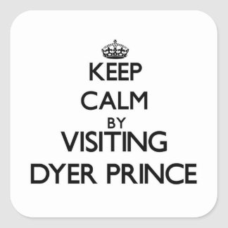 Guarde la calma visitando a príncipe Massachusetts Pegatina Cuadrada