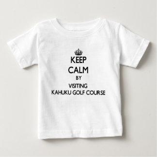 Guarde la calma visitando el campo de golf Hawaii Remera