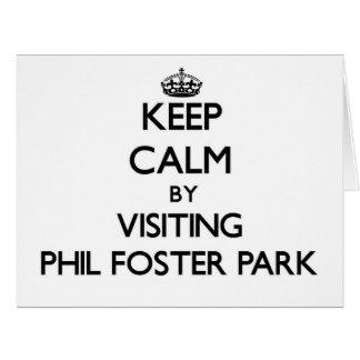 Guarde la calma visitando el parque adoptivo la tarjeta de felicitación grande