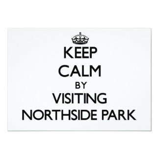 """Guarde la calma visitando el parque New Hampshire Invitación 5"""" X 7"""""""