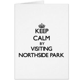 Guarde la calma visitando el parque New Hampshire Tarjeta De Felicitación