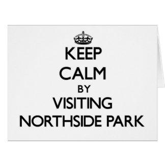 Guarde la calma visitando el parque New Hampshire Tarjeta De Felicitación Grande