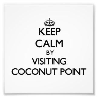 Guarde la calma visitando el punto Samoa del coco Fotografias