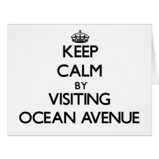 Guarde la calma visitando la avenida Massachusetts Tarjeta De Felicitación Grande