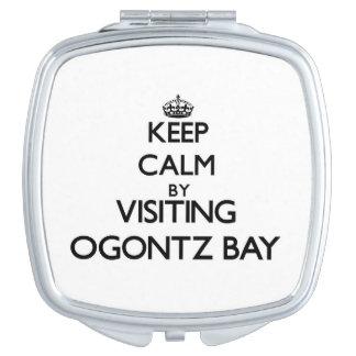 Guarde la calma visitando la bahía Michigan de Ogo Espejos Compactos